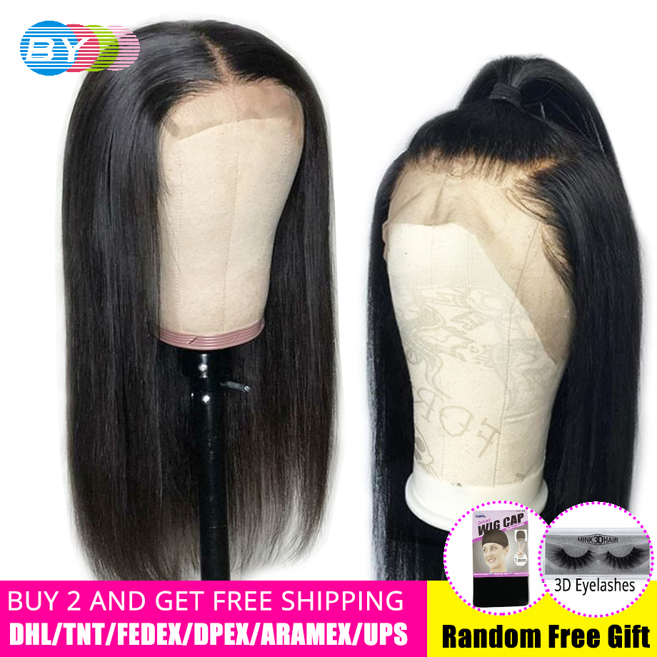 BY 4 4 Short Lace Closure Human Hair Wigs Remy Human Hair Hd Lace Wig Brazilian