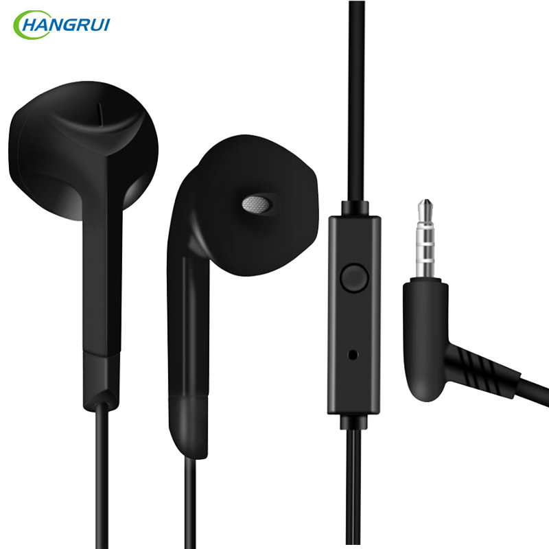HANGRUI F2 Half In-ear Earphone Stereo Bass headset Sports Earbud with Microphone 3.5mm for iPhone Xiaomi Samsung fone de ouvido rock y10 stereo headphone earphone microphone stereo bass wired headset for music computer game with mic