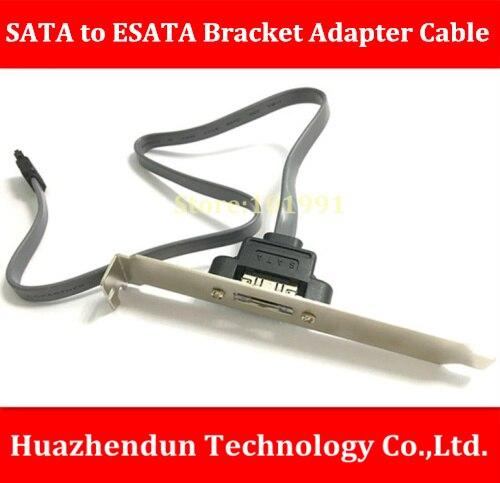 Hot Sell  ESATA Baffle Cable   7Pin SATA to ESATA Baffle Adapter Cable   About 45CM  ESATA  12CM  Expansion Baffle sata cable 45cm