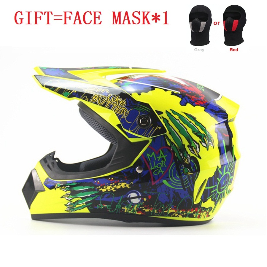 Free shipping 1pcs Off Road Casco Motorcycle Moto Dirt Bike Motocross Racing Motorcycle Helmet with Face mask