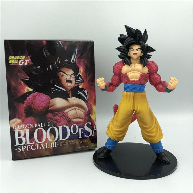 Dragon ball z goku gogeta gt sangue de saiyan quebrar super saiyan 4 ver de combate vermelho. Figura de ação dbz coleção pvc,