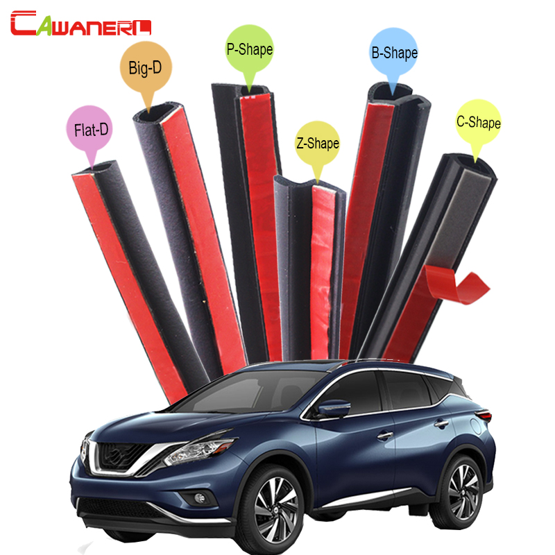 Cawanerl Car Hood Door Trunk Rubber Seal Sealing Strip Kit Seal Trim Weatherstrip For Nissan Armada Murano Rogue Paladin cawanerl car 4 door trunk hood rubber sealing strip kit seal edging trim weatherstrip for volvo 760 850 940 960 c30