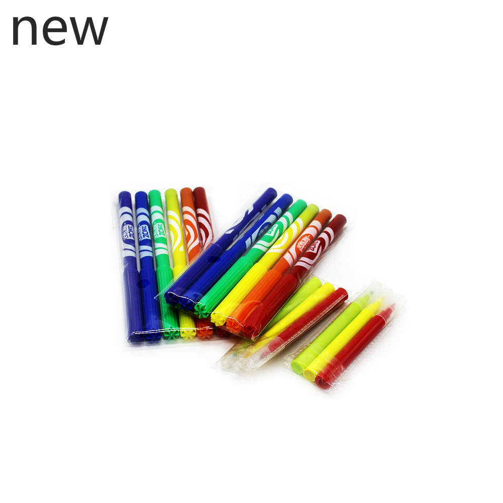 new children's kindergarten interesting Soft watercolor scribble pen 6 color primary painting set hand-painted non-toxic WH18 wh18 20