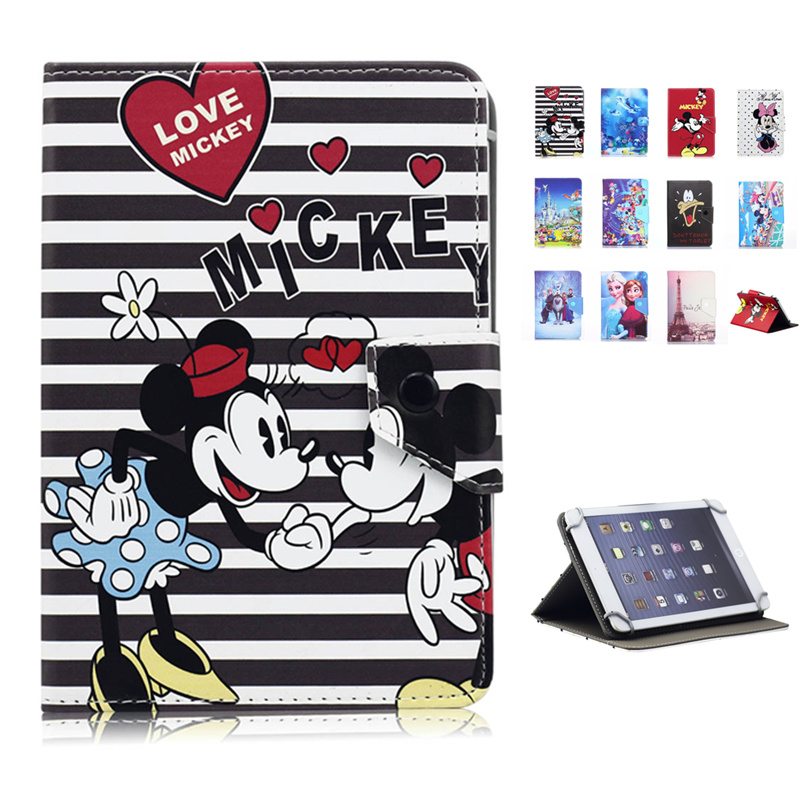 Universal Cover Case For Huawei Mediapad T1 8.0 S8-701u/s8-701w 8 Inch Tablet Cartoon Printed Pu Leather Case Sales Of Quality Assurance Computer & Office