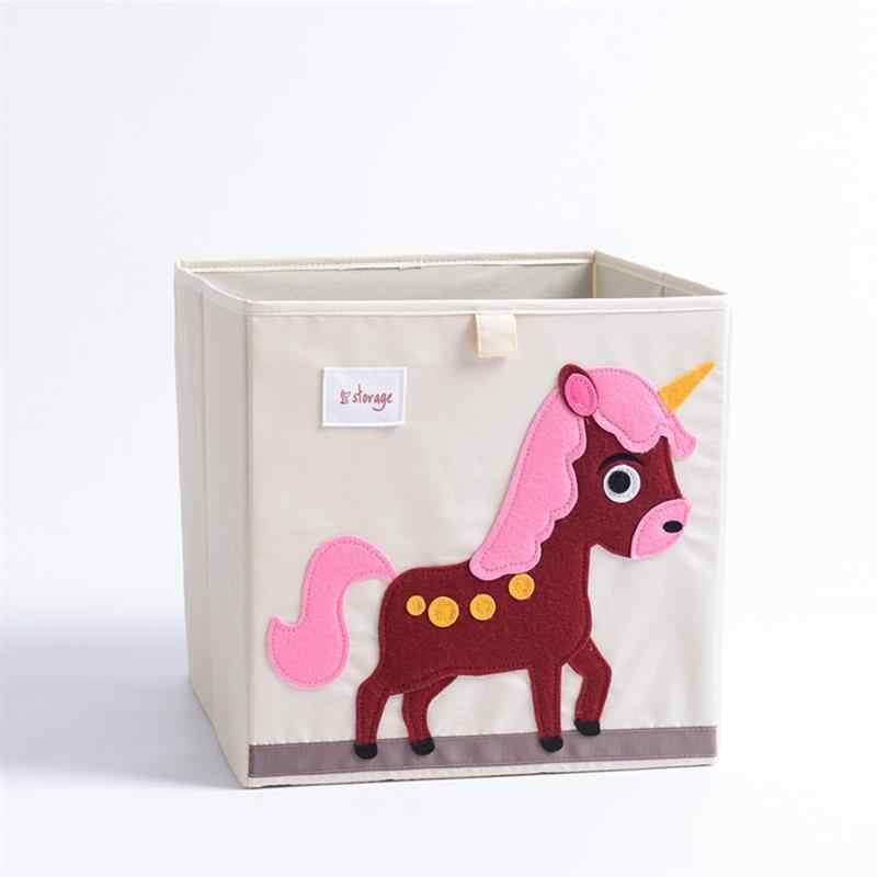 1 шт. складная коробка для хранения Мультяшные узорные ящики для хранения одежды блокнот-органайзер игрушки контейнер для детской комнаты гостиной