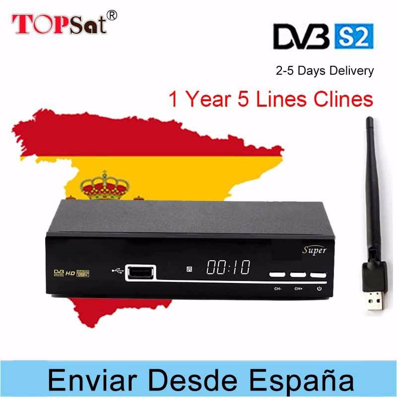 V8 SUPER Satellite TV Receiver HD+USB WIFI DVB-S/S2 satellite receptor + 1 YEAR Europe CCcam Free satellite TV decoder 2017 high quality hd bcm7358 satellite tv receiver ex hd decoder dvb s2 256mb rom and 512mb ddr3