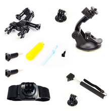 For Gopro Equipment Set Bobber Float Hand Grip Extendable Monopod Bike Mount Holder for Gopro Hero four three SJCAM SJ4000 SJ5000