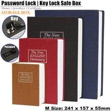Mini caja fuerte de diccionario de regalo para estudiantes, candado de llave secreto oculto, tarjeta de hucha, joyería, diario privado, casillero con contraseña