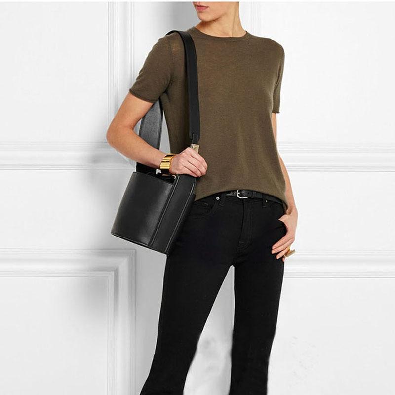 2018 Acnc legend новая сумка мешок из натуральной кожи, женские сумки на завязках, женская сумка на плечо из натуральной кожи, Бесплатная доставка - 3