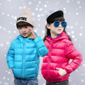 2016 new thin models of child baby boys and girls hooded down jacket short paragraph Slim
