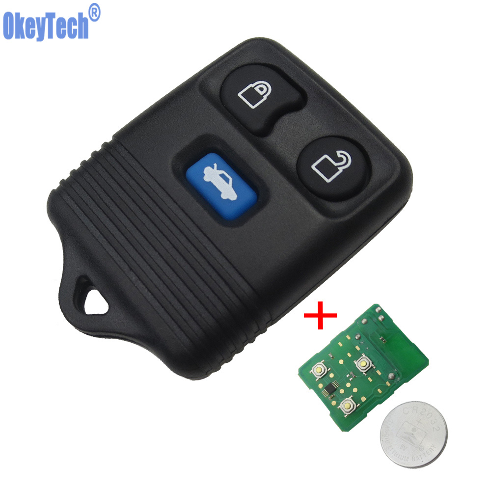 OkeyTech 3 Buttons Replacement Remote Key Keyless Entry Fob For Ford Transit MK6 Connect 2000-2006 Auto Refit Car Key