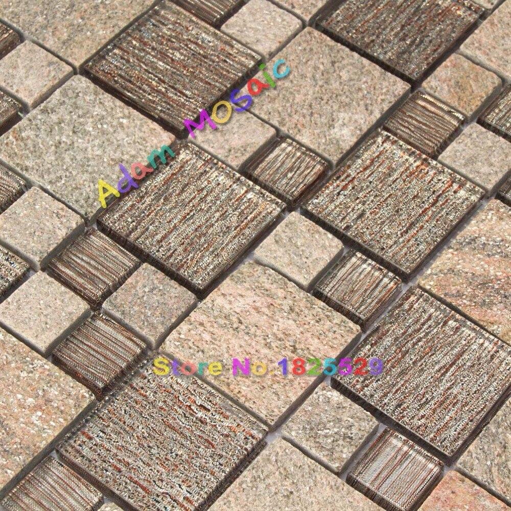AuBergewohnlich Stein Mosaik Fliesen Braun Mosaik Fliesen Schokolade Bad Wand Backsplash  Kithchen U Bahn Glas