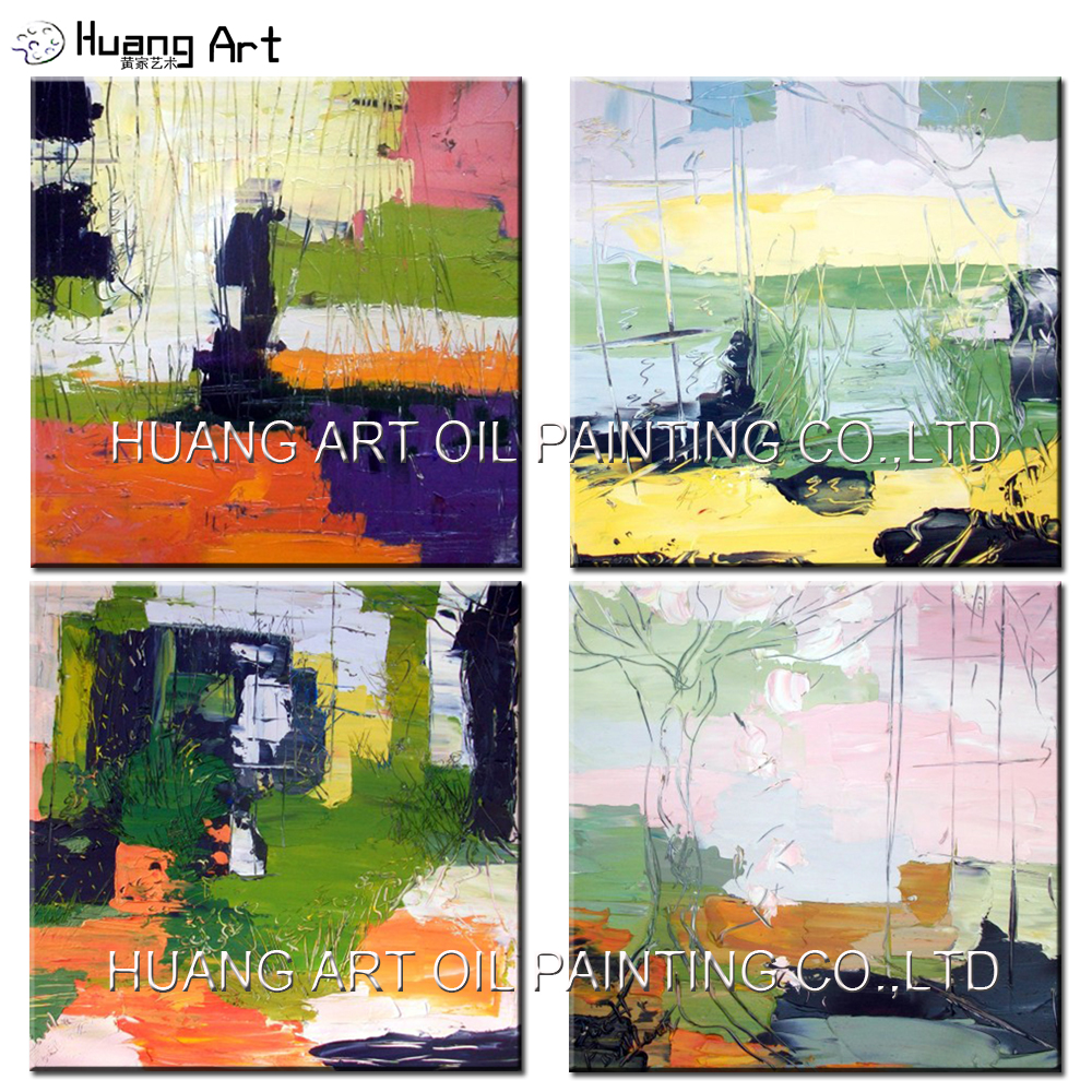 Us 24 0 52 Off Wholesale Special Design Abstract Art Hand Painted Bright Color Painting On Canvas Modern Landscape Oil Picture For Home Decor In
