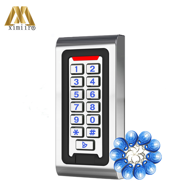 RFID Door Access Control System Waterproof Metal Keypad 125KHz Proximity Card Standalone Access Control With 2000 Users M06