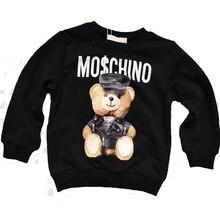 Одежда для всей семьи, Одинаковая одежда для семьи, толстовки с 3D принтом медведя, хлопковые свитера с длинными рукавами, модные рубашки