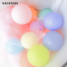 NASTASIA Macaron balloon colorful 5inch 50pcs/lot birthday party decorate adult  wedding favors and gifts supplies
