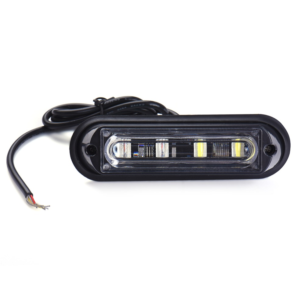New 4 LED Waterproof Car Truck Strobe Flash Warning Light Side Maker Light Stop Lamp 12V 24V