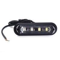 New 4 LED Waterproof Car Truck Strobe Flash Warning Light Side Maker Light Stop Lamp 12V 24V