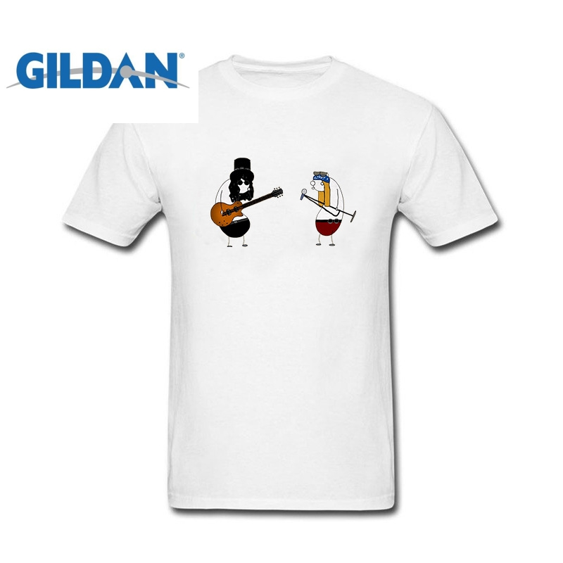 GILDAN New Summer Funny Tee Guns N Roses Rock Cotton Funny T Shirt for men