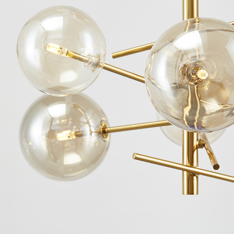 6 head modern cognac glass ball chandelier light g4 bulb gold body 6 head modern cognac glass ball chandelier light g4 bulb gold body luxury hanging lighting living room villa lighting in pendant lights from lights mozeypictures Image collections