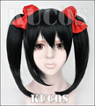 Love Live!  Yazawa Niko Nico Cosplay Wig And Red Bowknot