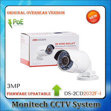 4PCS DS-2CD2032F-I Original overseas version Updatable Mini Bullet ONVIF 3MP POE Outdoor IP66 Network Security CCTV IP Camera(China)