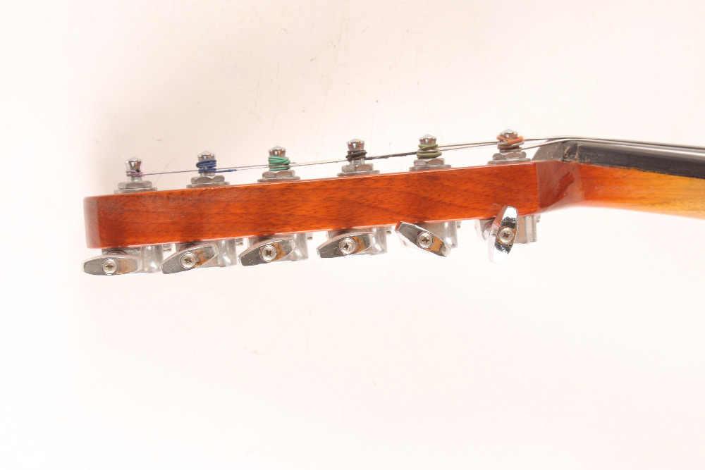 6 מחרוזת כינור חשמלי חדש 4/4 קול רב עוצמה עץ מוצק צורת גיטרה להבה להתרגז 6-6 #