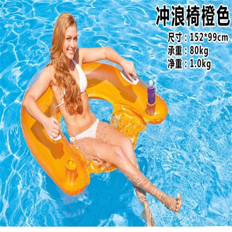 99 x 152CM Felfújható hevederes szék Lebegő nyugágyak - Vízi sportok - Fénykép 2