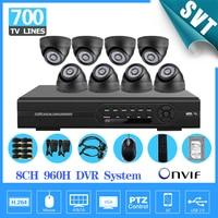 Home 8 CH CCTV Security Cameras DVR System 700TVL Indoor Dome Ir Cut Cameras 8ch Surveillance