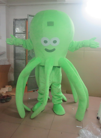 High Quality Hot Sale Green Giant Octopus Mascot Costume Free