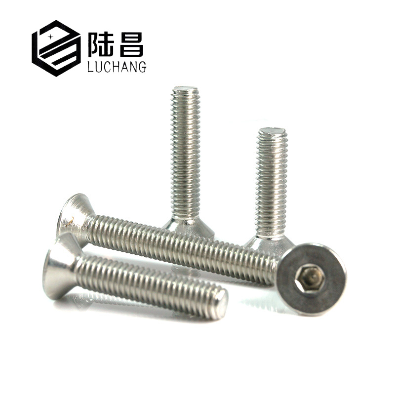 LUCHANG Free Shipping M2 M2.5 M3 M4 50PCS Stainless Steel 304 Hexagonal socket Countersunk Screw Flat Head Screw Bolts Hex Screw 100pcs din7991 m2 5 m3 m4 flat head countersunk head 304 stainless steel hex socket head cap screw bolts