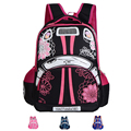New Arrival 2015 Children School Bags For Girls Car-styling Floral Zipper Backpack Child Nylon Backpack mochila infantil escolar