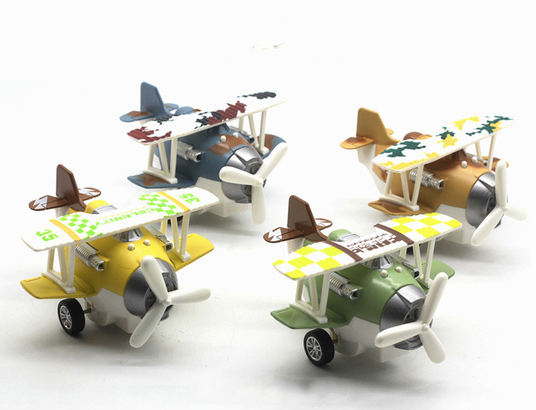 1 Piece Feichao 1:72 Alloy Glider Model Toy Light & Sound Carton Aircraft <font><b>Diecast</b></font> Pull Back & Return Children's Toys 12*11*7cm image