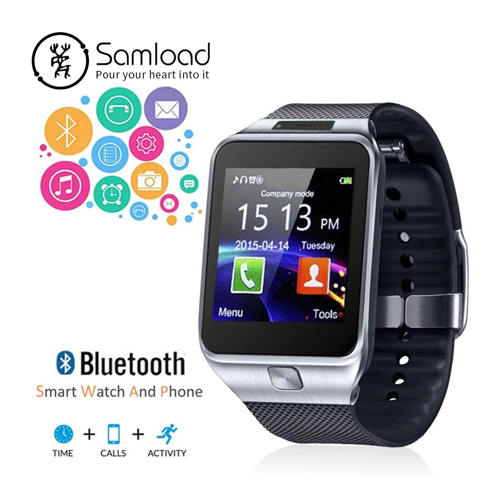 цена на Samload Smart Watch Wirstband Sim Card Slot Push Message Bluetooth Band Smartwatch Men Alarm Clock For Apple iPhone Xiaomi Sony