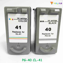 2Pcs Compatible Ink Cartridge for Canon PG 40 CL 41  For Canon PIXMA MP160 MP140 MP450 MX300 MX310 IP1600 IP1900 Printer hisaint 1 set pg 40 cl 41 ink cartridge for canon pg40 cl41 for canon pixma ip2500 ip2600 mx300 mx310 mp160 mp140 mp150