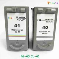 vilaxh PG 40 CL 41 pg 40 Ink Cartridge For Canon PG40 CL41 Pixma IP2200 IP1800 MP160 MP180 MP210 MP140 MP150 MP190 MP220 MP450 ink cartridge ink cartridge for canon cartridge for canon -
