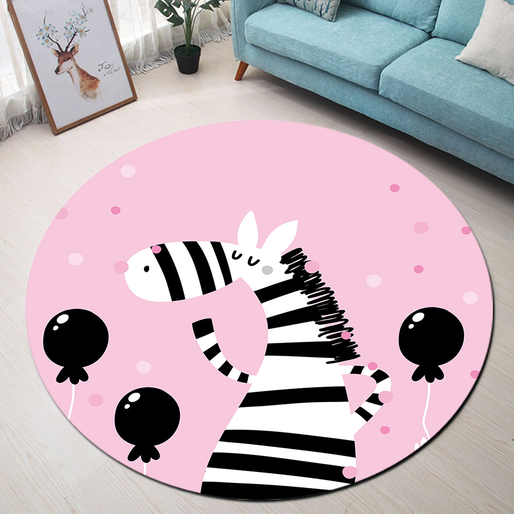 Zebra Balloon Round Rugs And Carpets