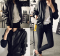 2016 Autumn Thin Bomber Jacket Women Stand Collar Zipper Casual Jaqueta Feminina Long Sleeves Women Slim PU Leather Jacket