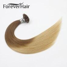 """Волос навсегда 0.8 г/локон 20 """"Реми кончик ногтя человеческих Наращивание волос Ombre Цвет # T8/16 кератин подсказка 100% человека pre таможенный Наращивание волос"""