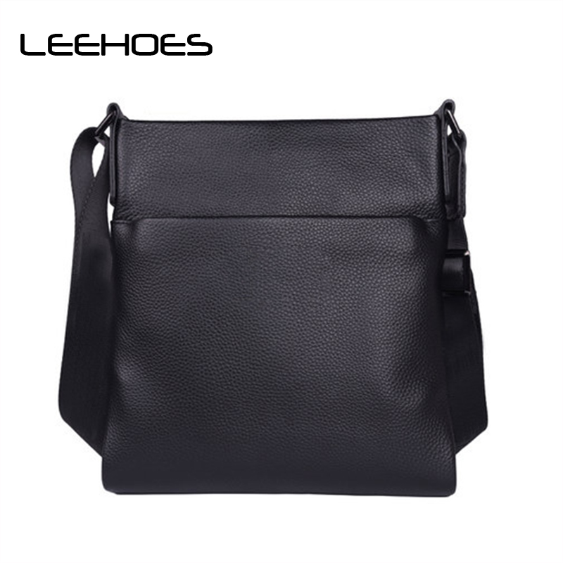 2018 Top Brand Genuine Leather Men Shoulder Bag Fashion High Quality Male Travel Business Soft Leather Small Men Messenger Bags