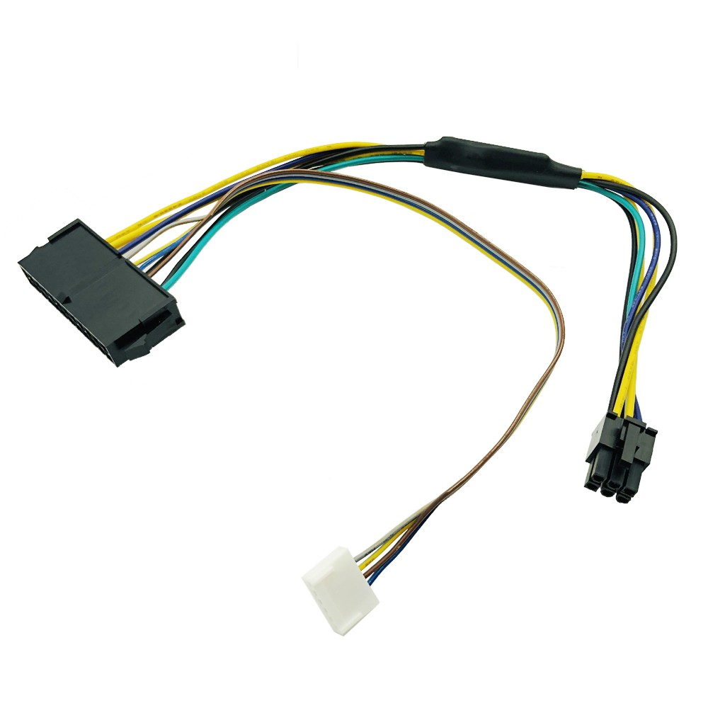 30CM Modular Power Supply Cable ATX <font><b>24Pin</b></font> 24 Pin Female to 6Pin 6-Pin Male Mini 6Pin Connector for HP Elite 8100 8200 8300 800G1 image
