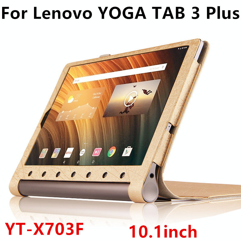 Case For Lenovo Yoga Tab 3 Plus Smart cover Leather Protective Tablet For YOGA TAB3 Plus YT-X703F 10.1 inch PU Protector Sleeve 3 in 1 new ultra thin smart pu leather case cover for 2015 lenovo yoga tab 3 850f 8 0 tablet pc stylus screen film
