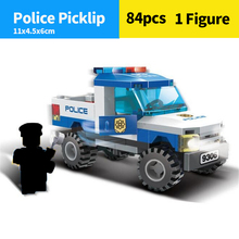 GUDI 8306  city 84pcs Police DIY Building Block Figures Educational Model toy For Childrens Gift