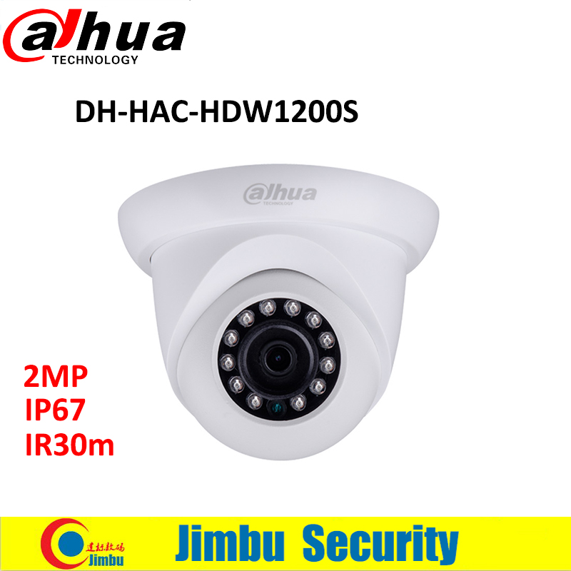 DAHUA HDCVI DOME IR 30M camera 2MP HAC-HDW1200S 1/2.7 CMOS 1080P cctv security mini camera waterproof IP67 DH-HAC-HDW1200S dahua 2mp hdcvi camera cctv 1080p water proof ip67 hac hfw1200s bullet camera lens 3 6mm ir leds length 30m mini security camera