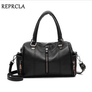 Image 3 - REPRCLA Luxury Women Bag Designer Leather Handbag Fashion Pillow Shoulder Bags Crossbody Female Tote Hand Bags Brand Bolsos