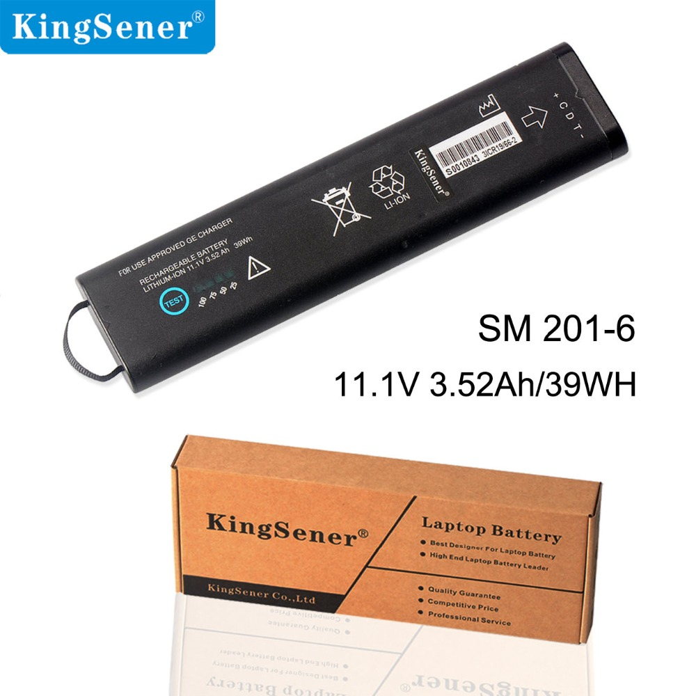 KingSener New SM201-6 Rechargeable Battery For GE DASH 3000 4000 5000 B20 B30 B40 B20I B30I B40I 11.1V 3.52Ah/39WHKingSener New SM201-6 Rechargeable Battery For GE DASH 3000 4000 5000 B20 B30 B40 B20I B30I B40I 11.1V 3.52Ah/39WH