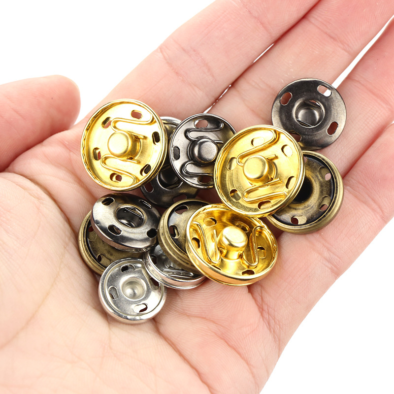 50pcs Metal Snap Fasteners Press Button DIY Sewing Clothing Handbag Purse Wallet Craft Bags Parts accessories in Buttons from Home Garden