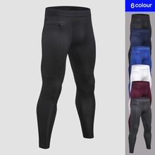 Популярные карман на молнии для мужчин s брюки для девочек фитнес Ночь Мужчин's Беговая одежда быстросохнущая сжатия Спорт брюк