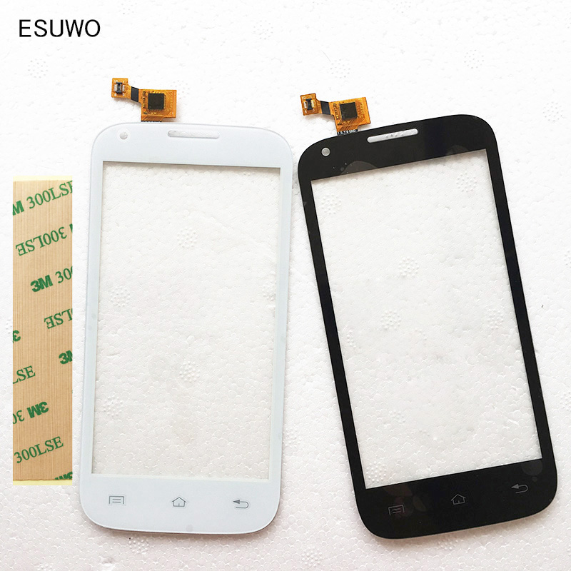 ESUWO 4.5inch Touch Screen Digitizer For Fly IQ4406 ERA Nano 6 touchscreen Replacement Touch Panel Lens Front Glass +3m sticker