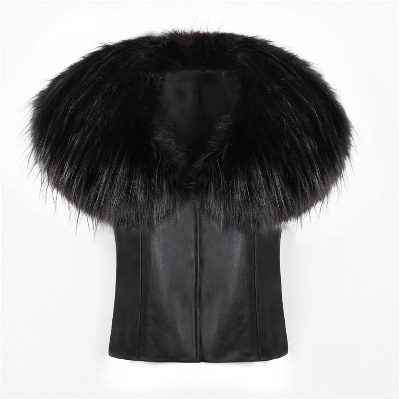 2018 spot fashion Europe and America party high-end fox fur faux fur vest elegant elegant fur (8)